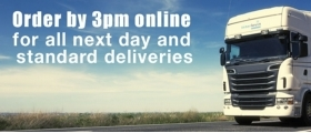 Order By 3pm Online For All Next-Day and Standard Deliveries